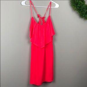 American Eagle | coral elastic waist dress